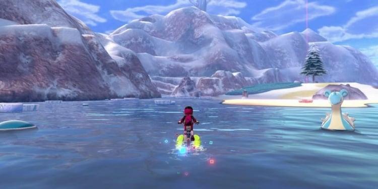 Pokemon Crown Tundra Pre Release Screenshot Lapras