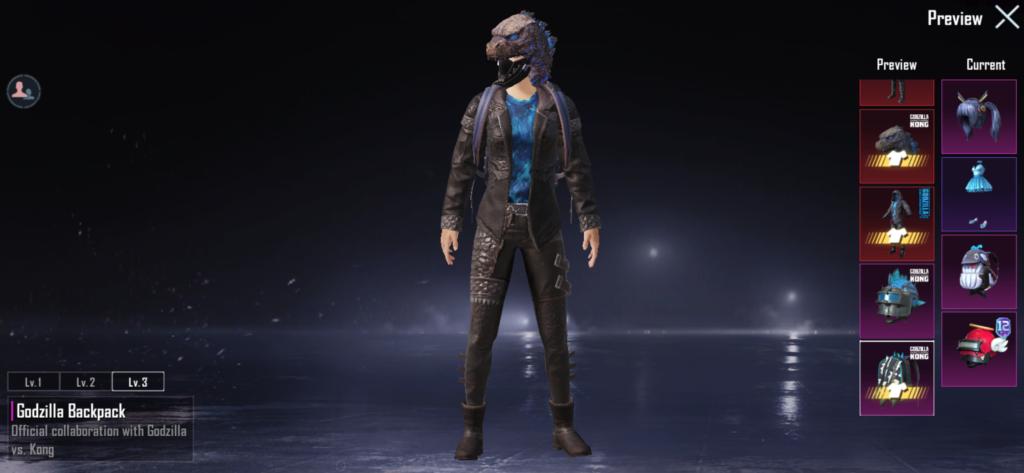 Godzilla Carapace Set Pubg Mobile 2019
