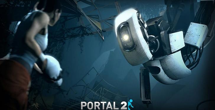 Portal 2 Glados Chell Video Games Wallpaper Preview