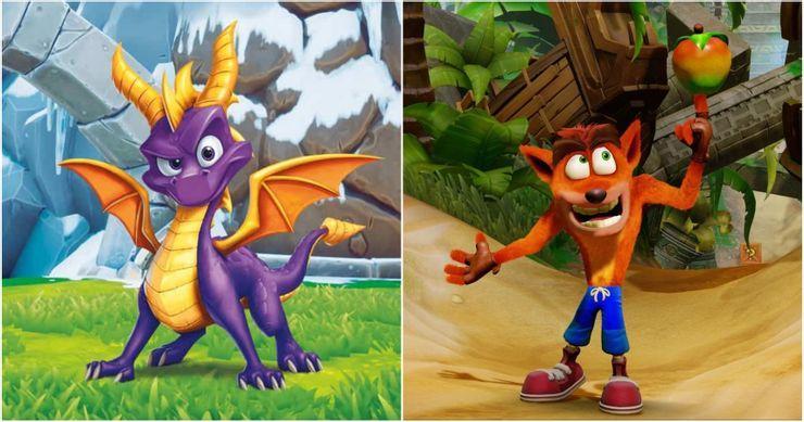 Crash Bandicoot Spyro The Dragon Playstation Platforming Mascot Feature