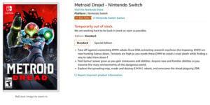Pre-order Game Metroid Dread Kehabisan Stok