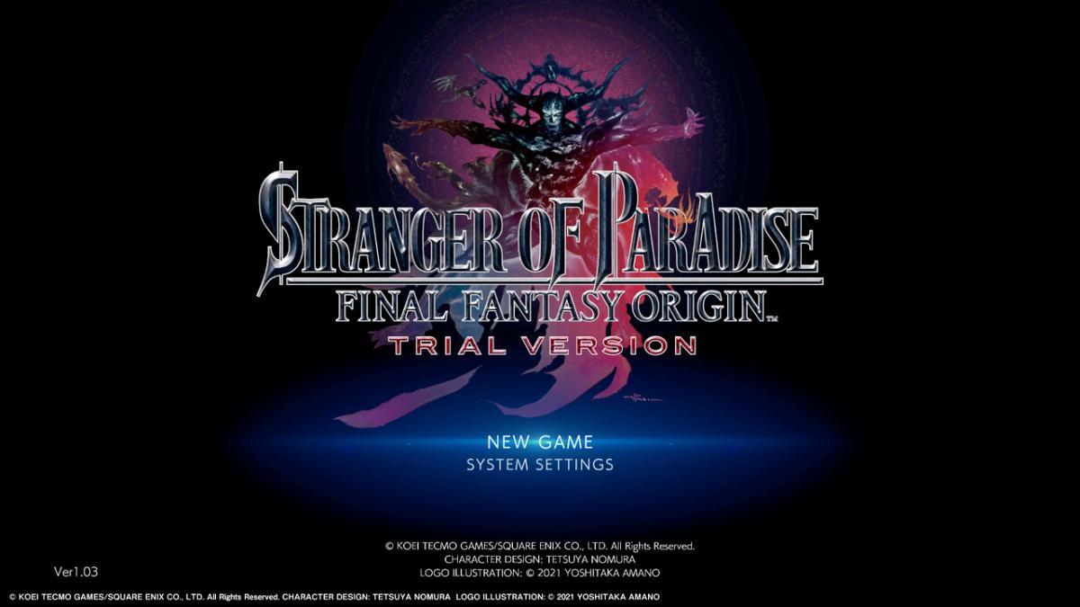 Stranger Of Paradise Final Fantasy Origin Trial Version 20210615183716