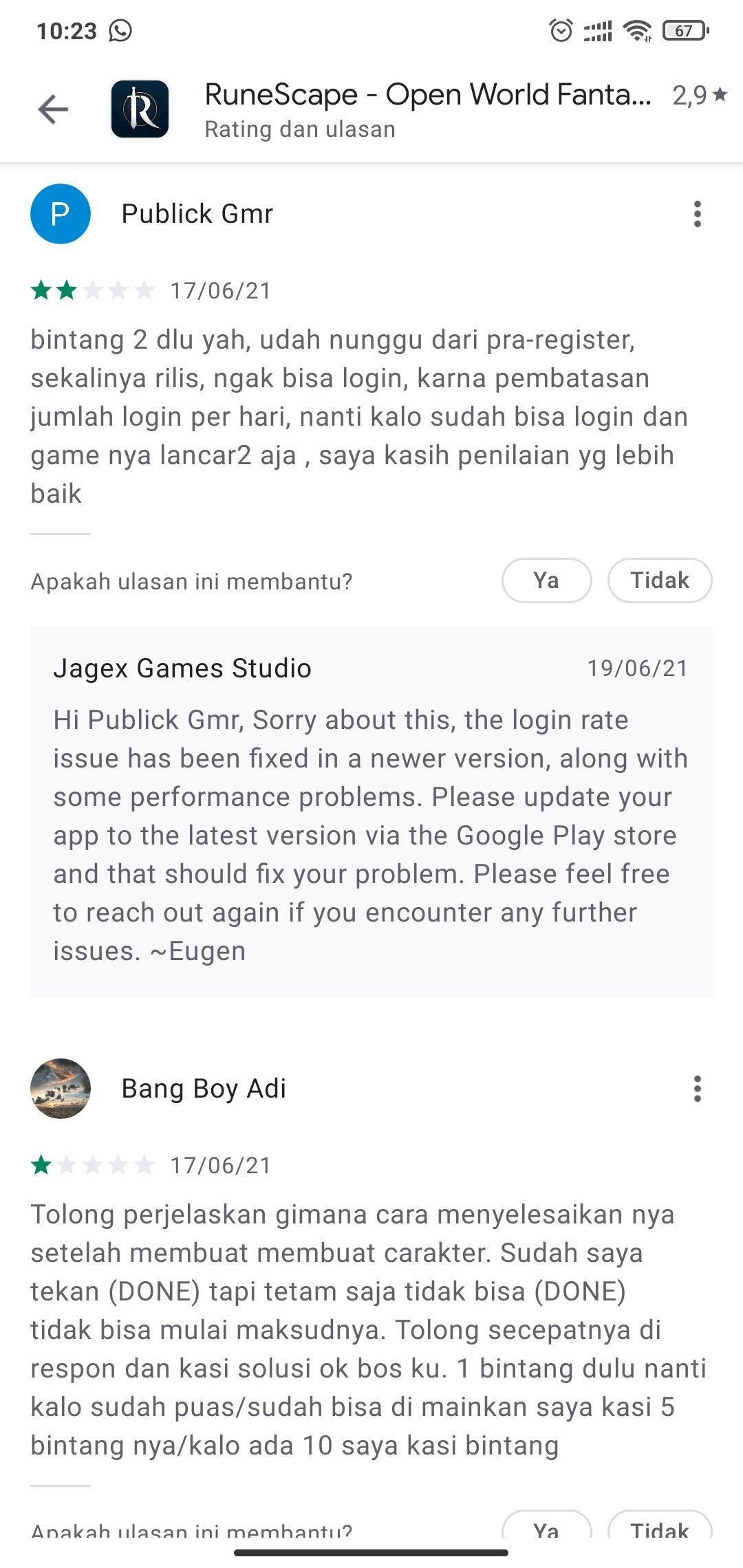 Kritik Netizen RuneScape