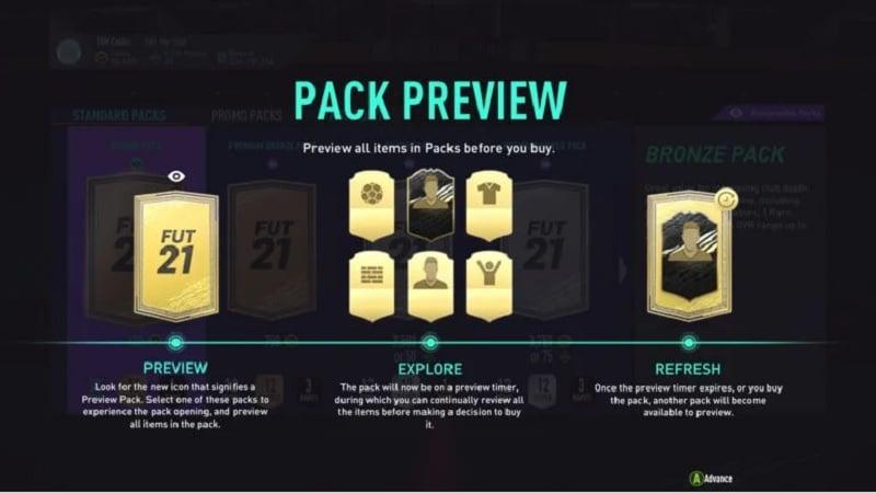 Tampilan Preview Pack