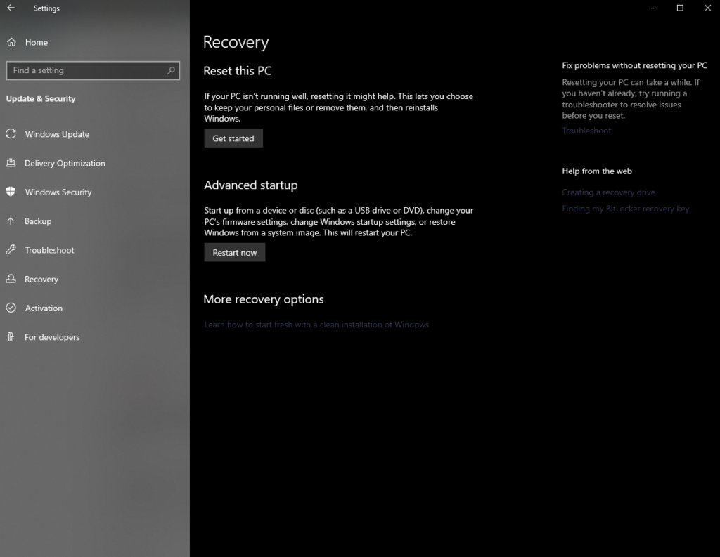 W10 Recover
