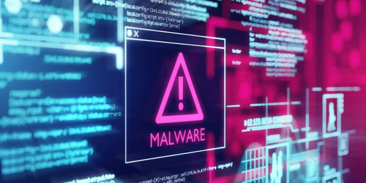 A Computer Screen With Program Code Warning Of A Detected Malwar