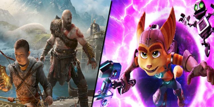 Keren! Developer God of War Membagikan Gambar Kolaborasi Rachet and Clank Bersama Dengan Kratos
