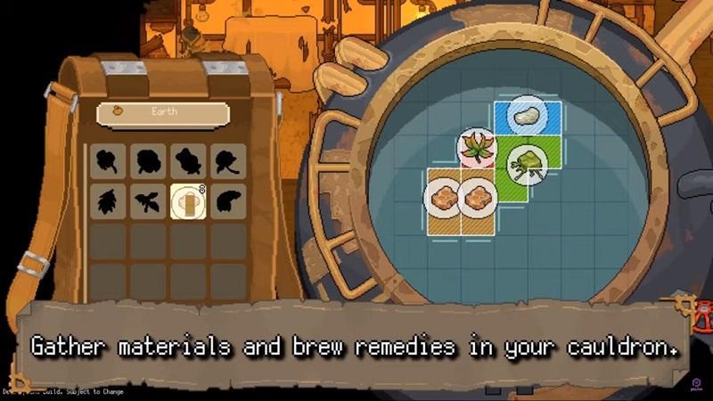 Gameplay Membuat Ramuan di Potion Permit