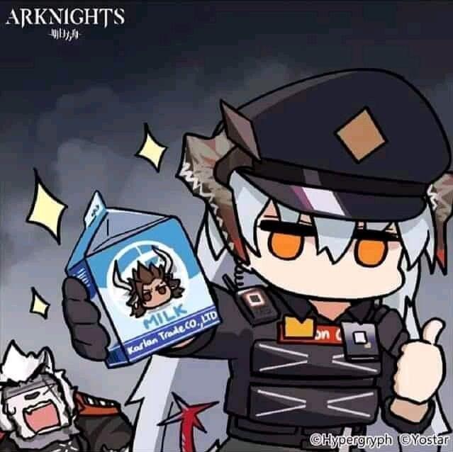 Arknights Kotak Susu Meme