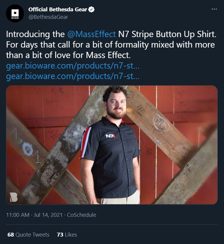 Mass Effect Merchandise Bethesda Shirt Posts